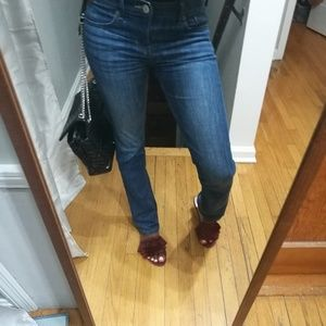 Express Barely Boot midrise jeans